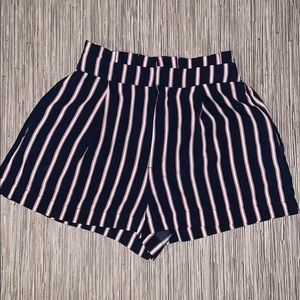 Forever 21 Shorts - Forever 21 Striped Paper Bag Shorts